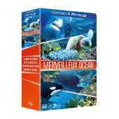 Merveilleux Oc�an - Coffret - Le Monde Des Requins 3d + R�cif De Corail Fascinant 3d + Les Merveilles De L'oc�an 3d + Dauphins Et Baleines 3d - Blu-Ray3d de Jean-Jacques Mantello