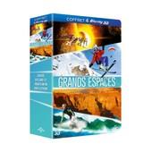 Grands Espaces - Coffret - Notre Univers 3d + Ride & Fly 3d + Grand Canyon 3d + Vague Extr�me Tahiti 3d - Blu-Ray3d de Greg Macgillivray