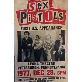 SEX PISTOLS affiche de concert USA tour