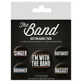 Musique Paquet De Badges - The Band, 1 X 38mm & 4 X 25mm Badges (15x10 cm)