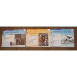lot de 3 fiches chansons atlas TRI YANN : le capitaine de Saint Malo , le soleil est noir et gwerz jorj courtois