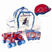 Spiderman Patins Ajustables + Protections