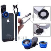 3in1 Mini Fisheye Wide Angle Macro Lens For Samsung Note 2 3 Galaxy S4 S5 DC526