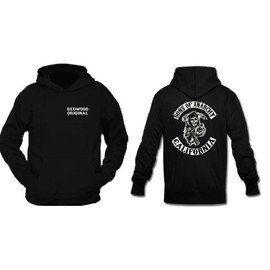 Sweat � Capuche Sons Of Anarchy - Biker - Taille S, M, L, Xl, Xxl