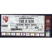 Ticket Billet Fc Metz - Stade De Reims Stade Saint Symphorien Ligue 1 Saison 14.15