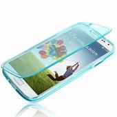 Samsung Galaxy Trend S7560 / S Duos S7562 : Coque Etui Housse Pochette Silicone Gel Livre Rabat Bleu + Film