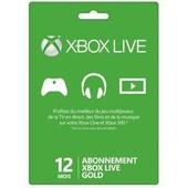 Microsoft Xbox Live Gold Subscription Card - Xbox 360 Licence D'abonnement ( 1 An ) - 1 Utilisateur - Fran�ais