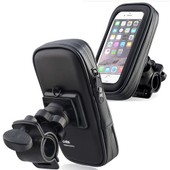 Insten� �tui Housse �tanche Noir Zip + Support Rotatif 360� Fixation Guidon [Diam�tre: 15-28mm] V�lo Bicyclette Vtt Moto Pour Iphone 4/4s/5/5c/5s, Htc Evo Shift 4g, Samsung Galaxy S3 Mini Gt-I8190