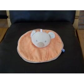 Doudou Koala Ours Sucre D'orge Orange Beige Creme