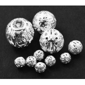 25 Perles En M�tal Filigrane Argent� 6-16mm