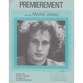 MICHEL JONASZ PARTITION  PREMIEREMENT