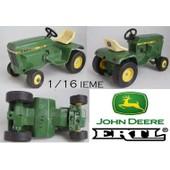 Tracteur De Jardin John Deere 200 300 Ertl 591 Made In Usa 1/16 Ieme 1978