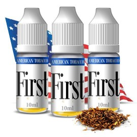 First : First, Pack 3x 10ml E-Liquide Saveur Tabac Americain Pour Cigarette Electronique Ego - 12mg