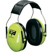 Casque Anti-Bruit Pour Enfants Vert Fluo Att�nuation Peltor Kid H510ak-442-Gb