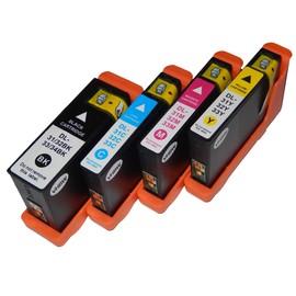 Vhbw Set De 4 Cartouches D'Encre � Puce Int�gr�e Pour Imprimante Dell Pro V525, V525w, V725, V725w Comme 31, 32, 33, 34.