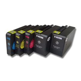 Vhbw Set De Cartouches D'Encre Pour Imprimante Hp Officejet 6100 Eprinter, 6600 E-All-In-One, 6700 Premium Remplace Hp 932, 932xl, 933, 933l