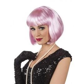 Perruque Cabaret Rose Adulte,