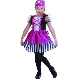 D�guisement Pirate Rose Fille, Taille 10 - 12 Ans (L)