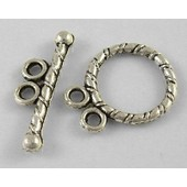 20 Fermoirs Toggles Argent�s Vieillis