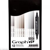 Graph'it Set 12 Marqueurs - Mix Grey Colors - Activit�s Enfants - Graph'it