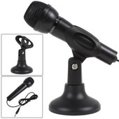 Microphone PC micro inclinable r�glable support filaire portable noir