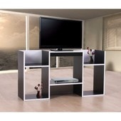 Meuble Tv / �tag�re, 6 Niches, 109x30x59cm, Noir