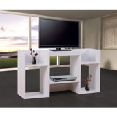 Meuble Tv / �tag�re, 6 Niches, 109x30x59cm, Blanc