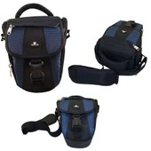 Case4Life Noir / Bleu Zoom Nylon SLR reflex photo num�rique �tui sac pour Canon EOS inc 100D 500D, 550D, 600D, 6D, 650D, 700D, 70D, 1000D, 1100D, 1200D � Garantie � vie