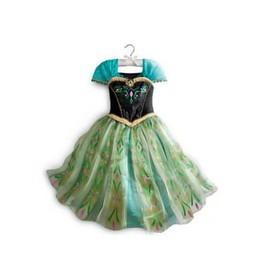 Magnifique Robe Anna Enfant 2 � 14 Ans D�guisement Elsa La Reine Des Neiges Look Princesse Cosplay Mignon Envoie Imm�diat Anniversaire Soir�e Sortie