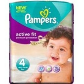 Pampers Active Fit Premium Protection Taille 4 - 7-18kg 22 Couches