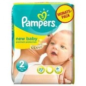 Pampers New Baby Premium Protection Taille 2 Mini 3-6 Kg 32 Couches