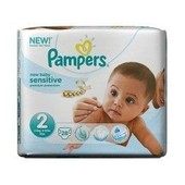 Pampers New Baby Sensitive Premium Protection Taille 2 Mini 28 Couches 3-6 Kg