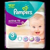 Pampers Active Fit Premium Protection Taille 3 - 4-9kg 26 Couches