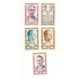 Héros de la résistance 1959 n°1198/1202