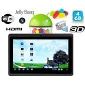 Tablette tactile Android 4.1 Jelly Bean 7 pouces HDMI 3D Noir