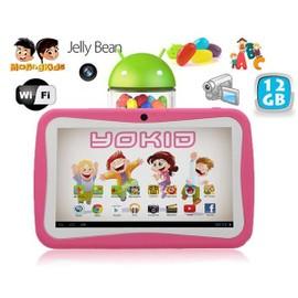 Tablette Tactile Enfant Yokid 7 Pouces �ducative Android 4.1 Rose 12go