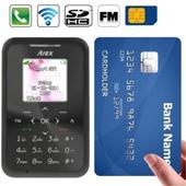 Mini t�l�phone portable d�bloqu� format carte bleue mobile noir