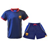 Ensemble Maillot + Short Bar�a - Collection Officielle Fc Barcelone - Taille Enfant Gar�on