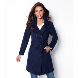Manteau Long Femme Venca � Double Boutonni�re