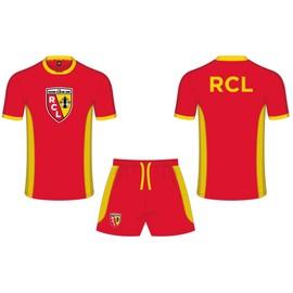 Maillot + Short Racing Club De Lens - Collection Officielle Rcl - Ligue 1 - Taille Enfant Gar�on