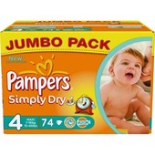 Couches Pampers Simply Dry T4 (7-18 Kg) 74u.