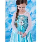 Robe Elsa Enfant 2 � 10 Ans Cosplay D�guisement La Reine Des Neiges, Tenue Princesse, F�te, Anniversaire