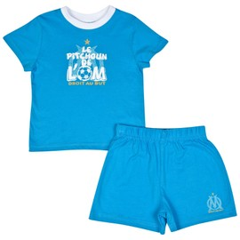 Ensemble B�b� Gar�on Om T-Shirt + Short - Collection Officielle Olympique De Marseille - Blason Maillot