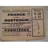 Ticket France Australie 1971.