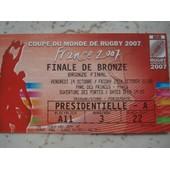 Ticket France Argentine Coupe Du Monde De Rugby 2007