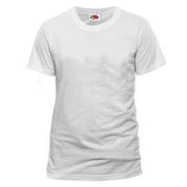 T-Shirt Couleur Blanc - Tee Shirt Fruit Of The Loom