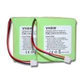 Kit de 2 batteries NI-MH 500mAh 2.4V pour MEDION MD81877 / MD82877 / MD82771 etc. remplace 5M702BMX / GP0827 / GP0845