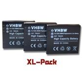 vhbw set de 3 batteries 750mAh pour appareil photo Ricoh Caplio G600, G700, G700SE, GR, GR Digital, GR Digital II, GX100