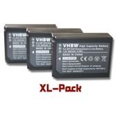 Set de 3 batteries 800mAh pour cam�scope Samsung NX200, NX210, NX1000, NX2000 remplace BP-1030, ED-BP1030