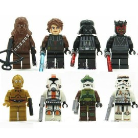 Lot De 8 Mini Figurines Star Wars